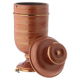 Urna cineraria ceramica color terra s3