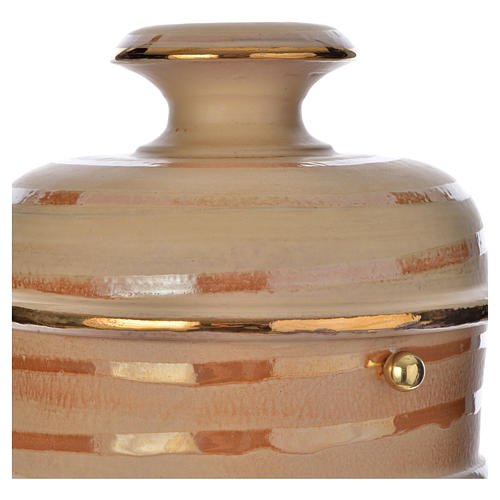 Urna cineraria ceramica color terra 2