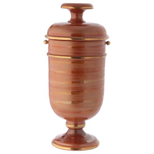 Urna cineraria ceramica color terra 1