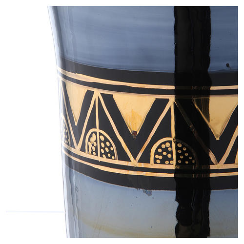 Urna funeraria ceramica nero oro lustri 5