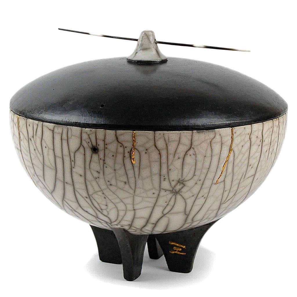 Cinerary urn, Naked Raku, Circle 2/10 3