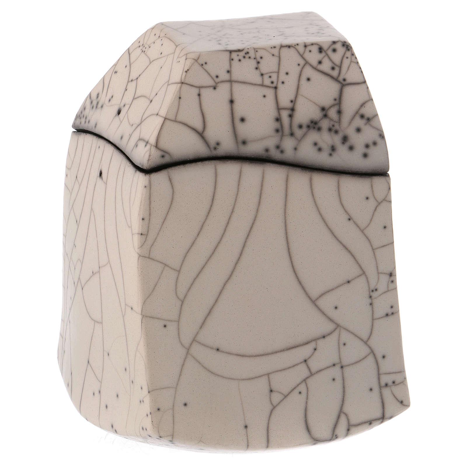 Cinerary urn, Naked Raku, Square 1/10 3