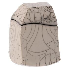Cinerary urn, Naked Raku, Square 1/10 s1