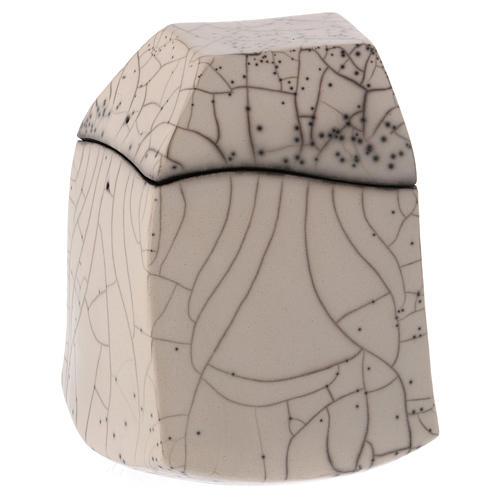 Cinerary urn, Naked Raku, Square 1/10 1