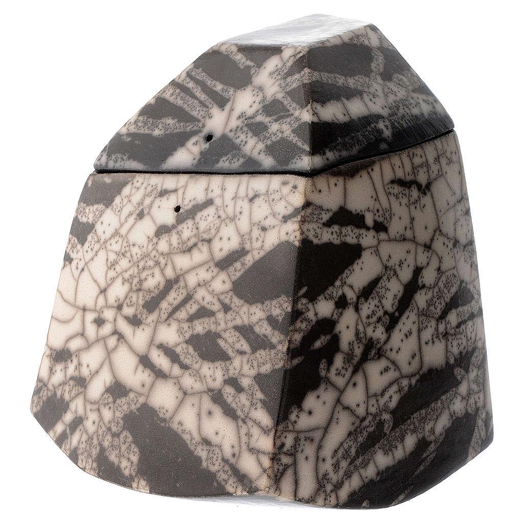 Cinerary urn, Naked Raku Square 2/10 3