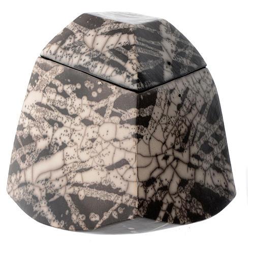 Cinerary urn, Naked Raku Square 2/10 1