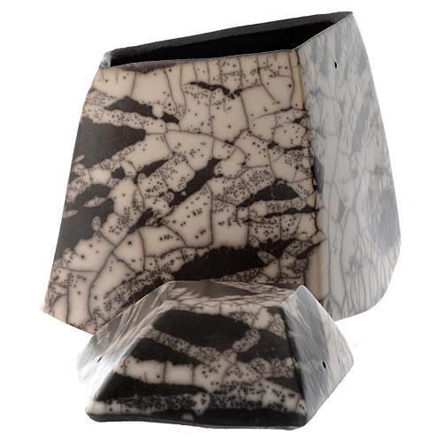 Cinerary urn, Naked Raku Square 2/10 4
