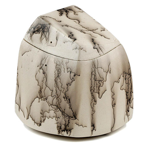 Cremation urn, horsehair square 3/10 1