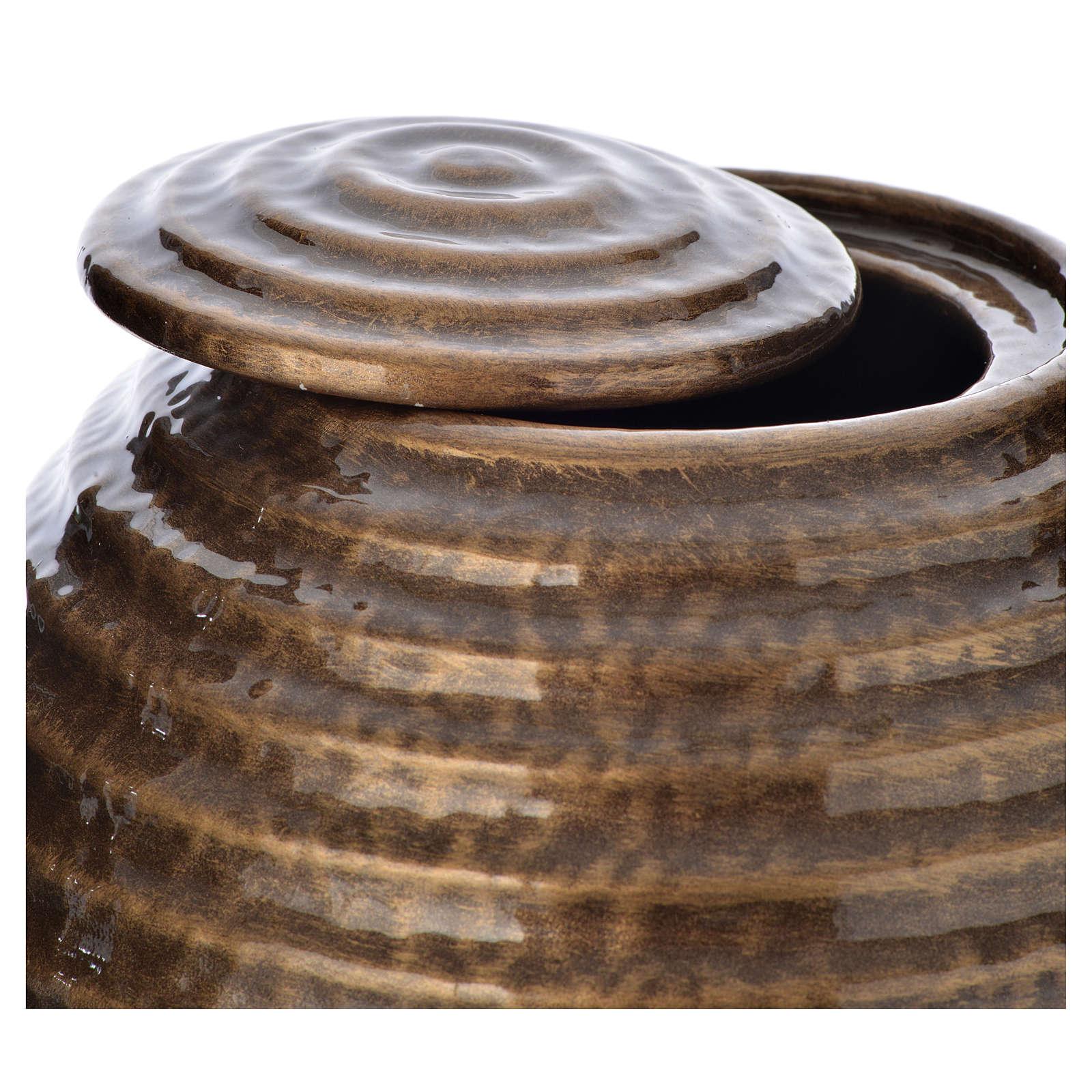 Urne funéraire porcelaine émail bronze 3