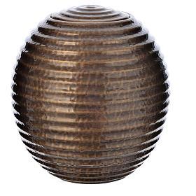 Urna cineraria porcellana smaltata bronzata s1