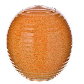 Cremation urn in porcelain, Murano model, orange s1