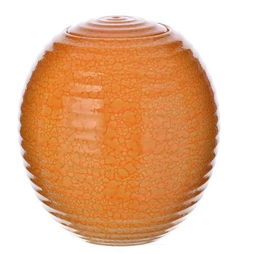 Cremation urn in porcelain, Murano model, orange 1