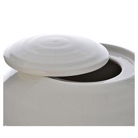 Urna funeraria porcellana mod. Murano Bianco Sfumato s2