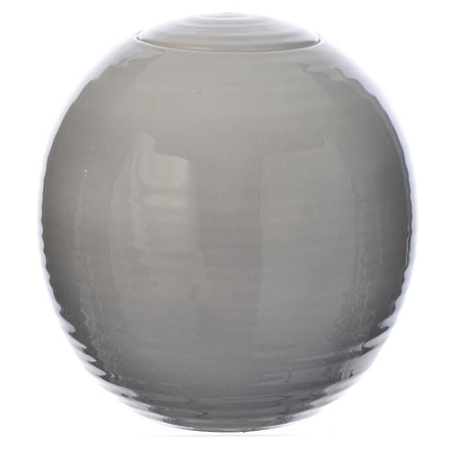Cremation urn in porcelain, Murano model, Shades of white 1