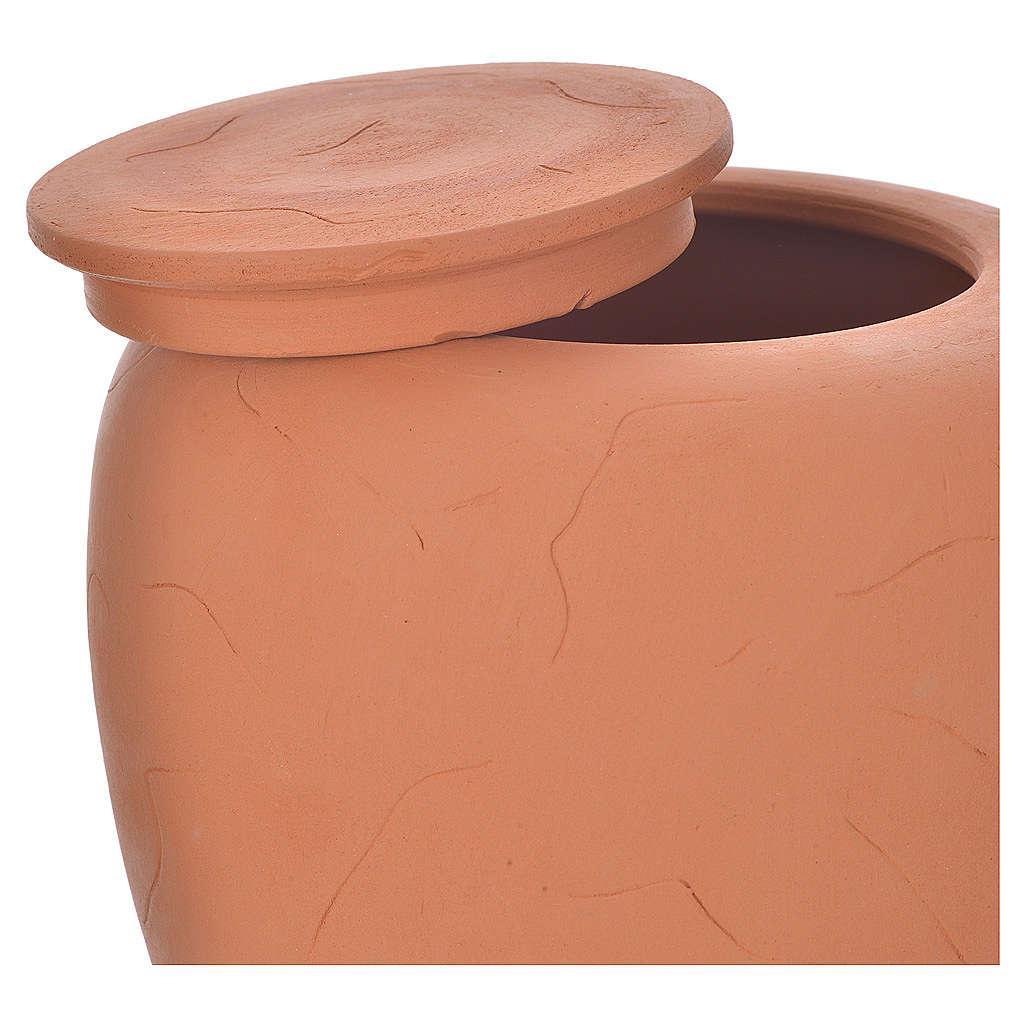 Cremation urn in terracotta 3