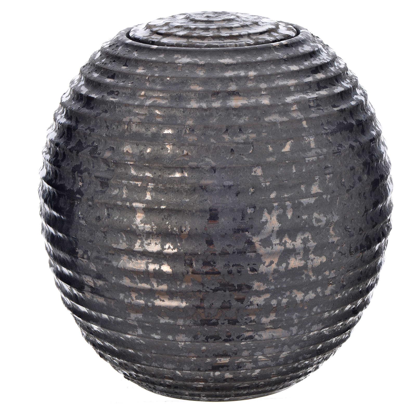 Urna cineraria porcelana esmaltada mod. Negro Tecno 3