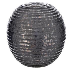 Urn for ashes in enamelled porcelain, Black Tecno model s1