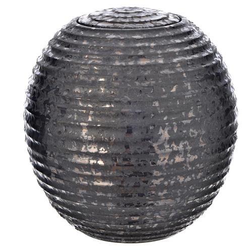 Urn for ashes in enamelled porcelain, Black Tecno model 1