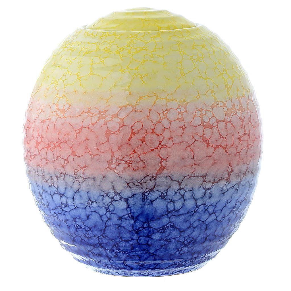 Urna cineraria porcellana smaltata mod. Murano Colour 3