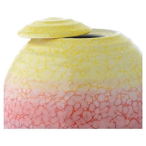 Urna cineraria porcellana smaltata mod. Murano Colour 2