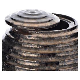 Urna cineraria porcelana esmaltada mod. Bronce Tecno s2