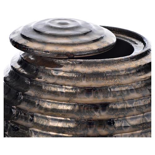 Urna cineraria porcelana esmaltada mod. Bronce Tecno 2