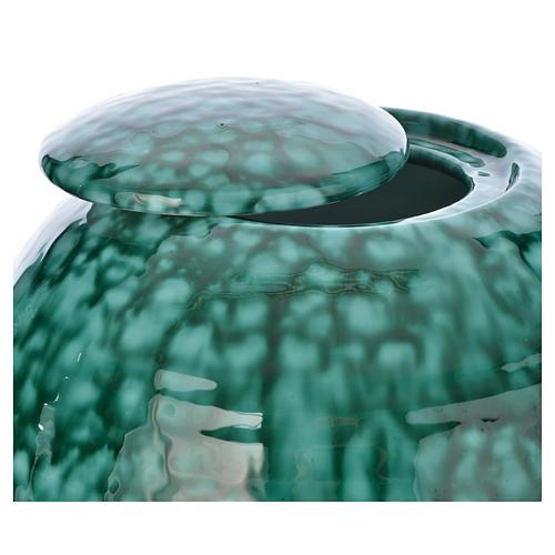 Urna cineraria porcellana smaltata mod. Murano Verde 2