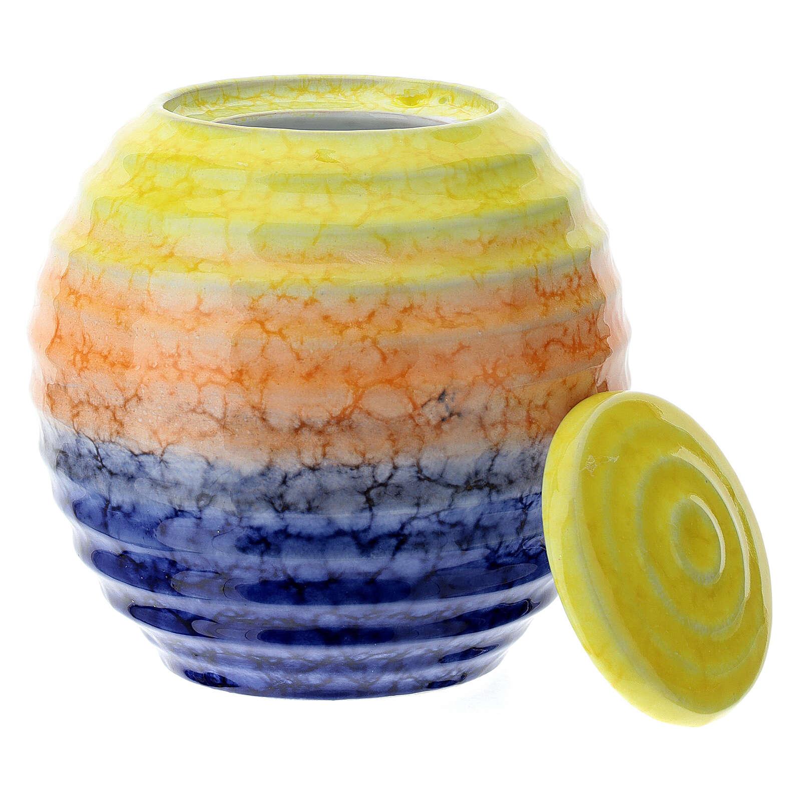 Urnetta funeraria porcellana mod. Murano Colours 3