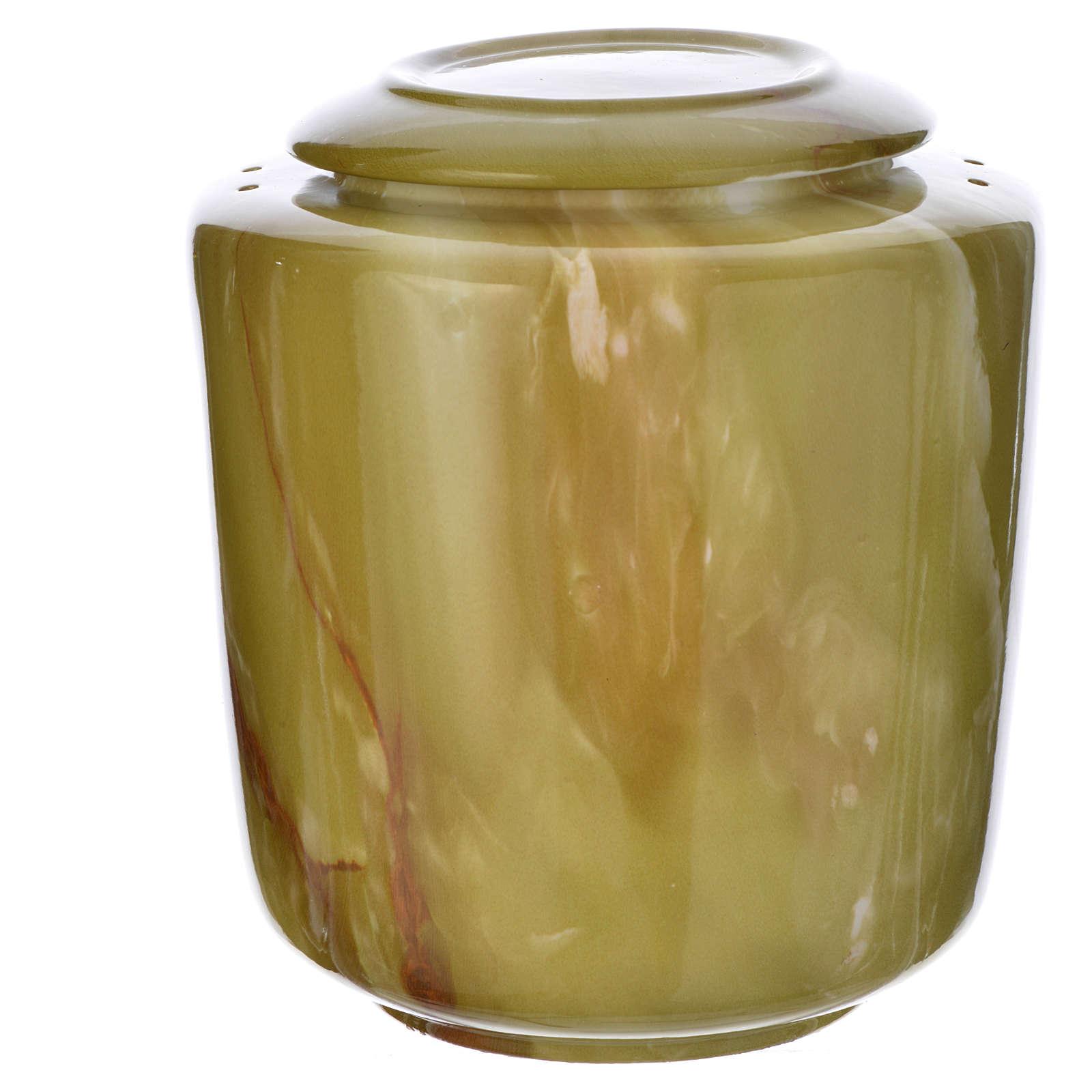Urna fúnebre porcelana mod. Ónix verde 3