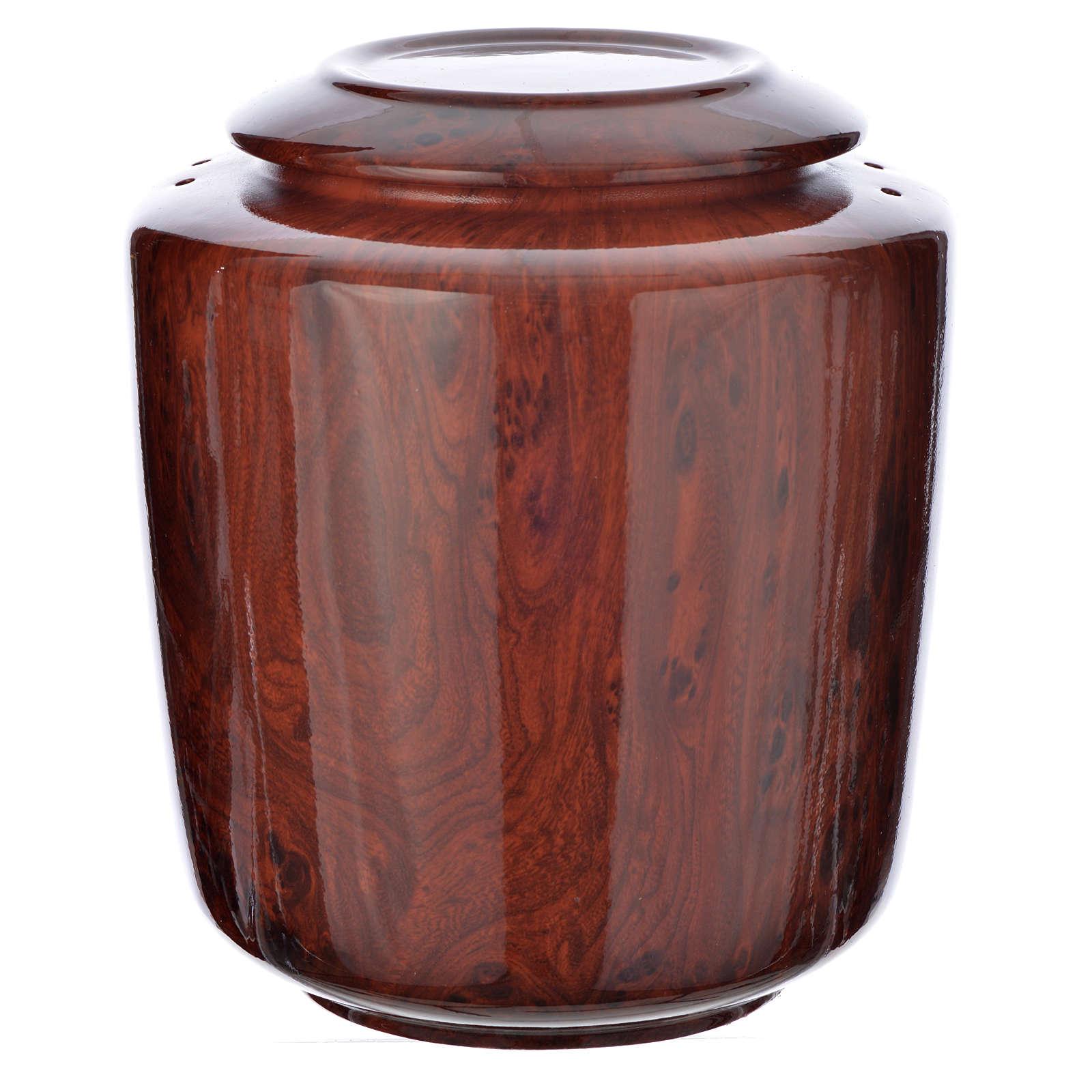 Cremation urn in ceramic Green Alpine model 3