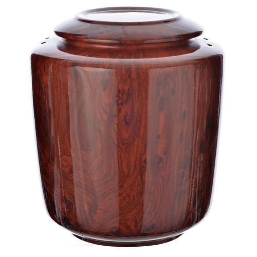 Cremation urn in ceramic Green Alpine model 1