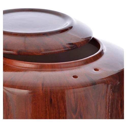 Cremation urn in ceramic Green Alpine model 2