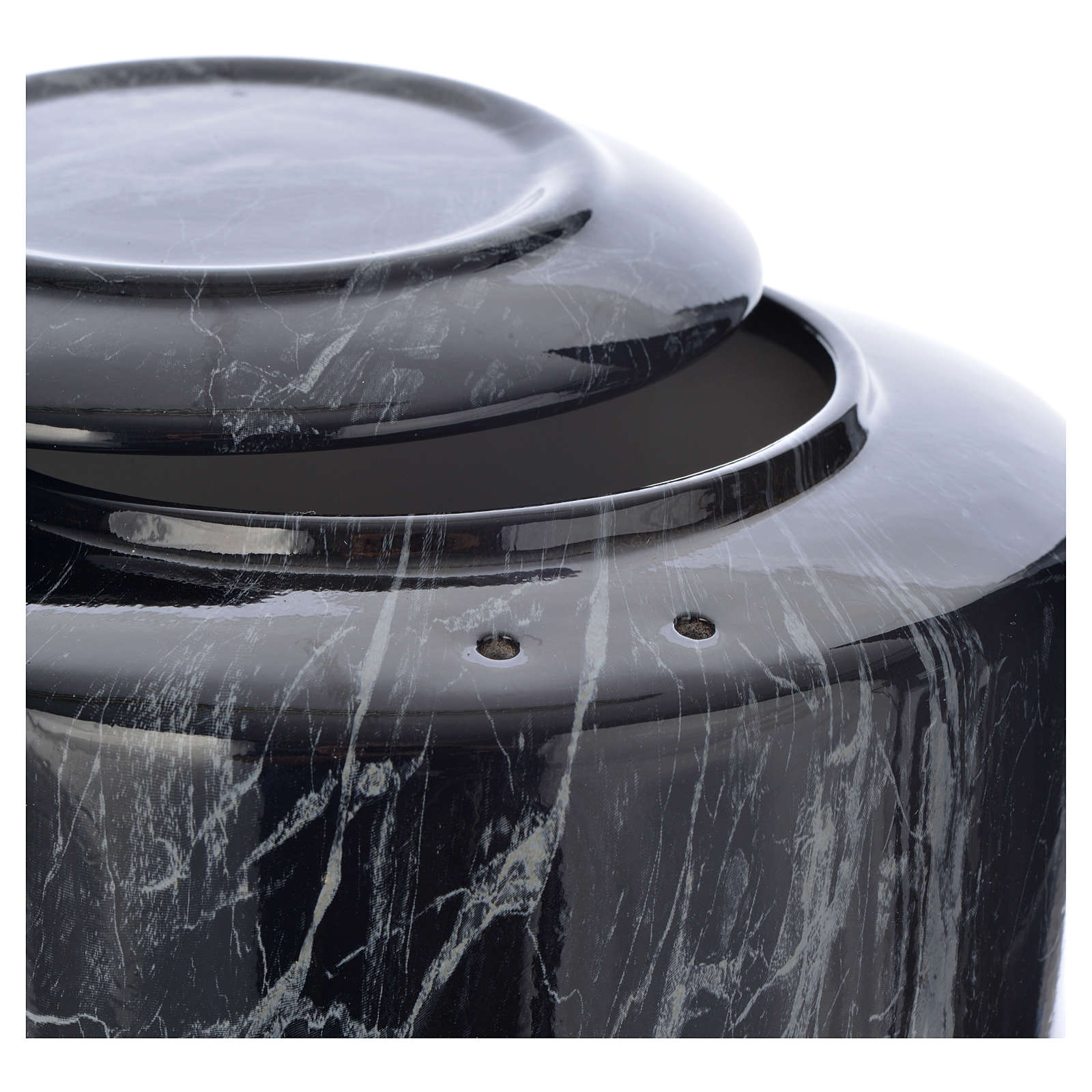 Cremation urn in ceramic Black Marquina model 3