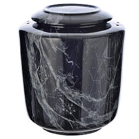 Cremation urn in ceramic Black Marquina model s1
