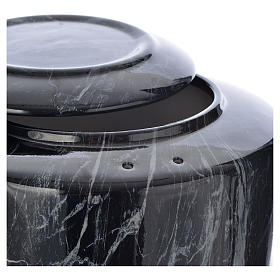 Cremation urn in ceramic Black Marquina model s2