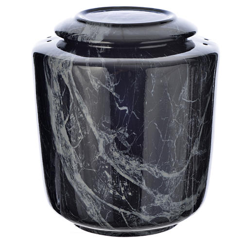 Cremation urn in ceramic Black Marquina model 1
