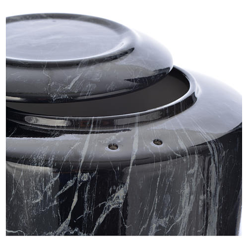 Cremation urn in ceramic Black Marquina model 2
