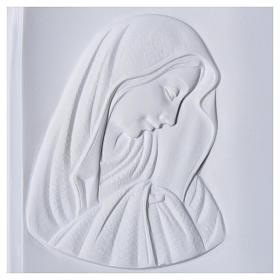 Libro placa para cementerio mármol sintético Virgen María s2