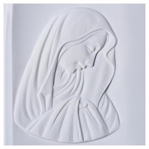 Libro placa para cementerio mármol sintético Virgen María 2