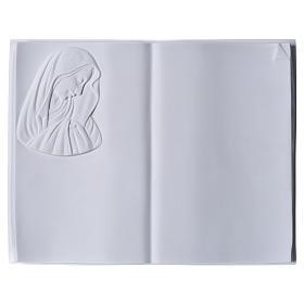 Libro targa per cimiteri marmo sintetico Madonna s1