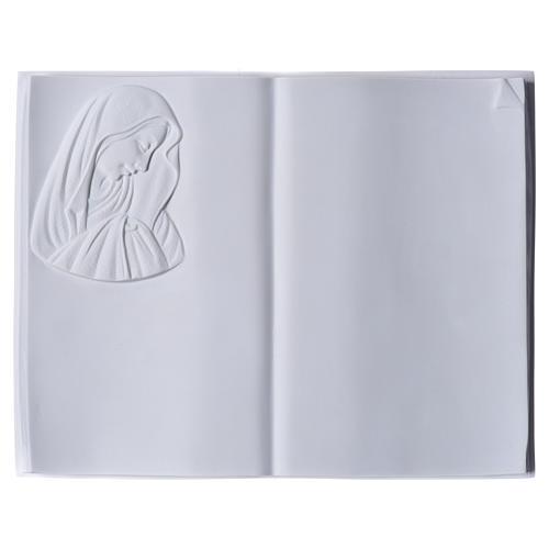 Libro targa per cimiteri marmo sintetico Madonna 1