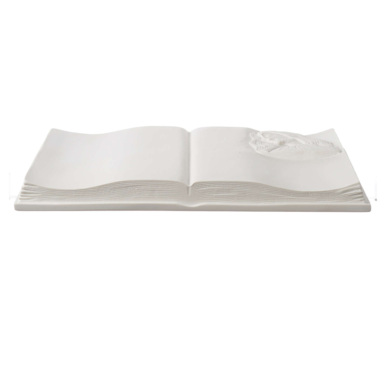 Libro targa per cimiteri marmo sintetico Cristo 3