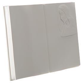 Libro targa per cimiteri marmo sintetico Cristo s2