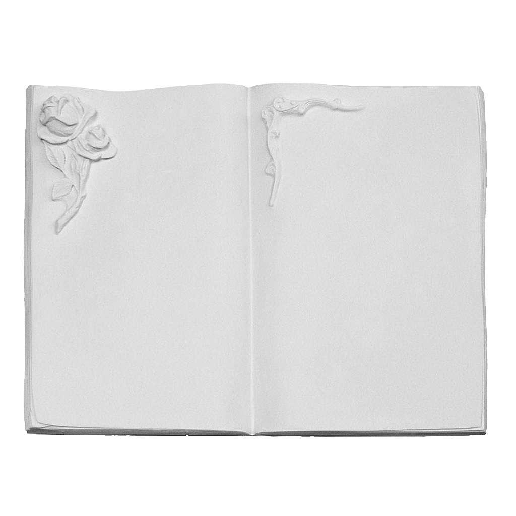 Libro targa per cimiteri marmo sintetico rosa 3