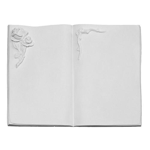 Libro targa per cimiteri marmo sintetico rosa 1