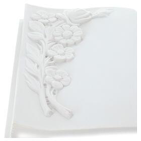 Libro targa per cimiteri marmo sintetico fiori s3