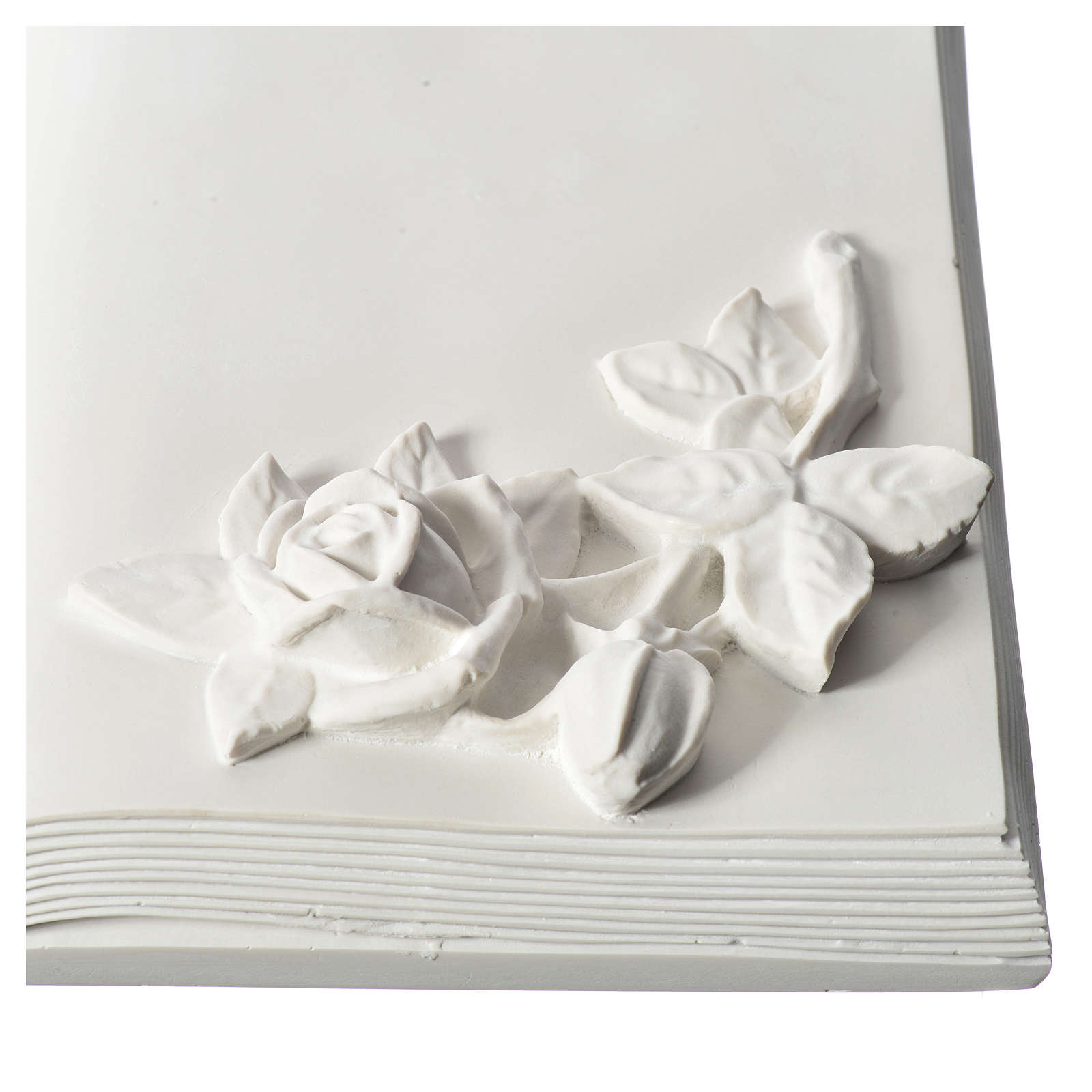 Plaque book for cemetery in reconstituted marble with roses 3