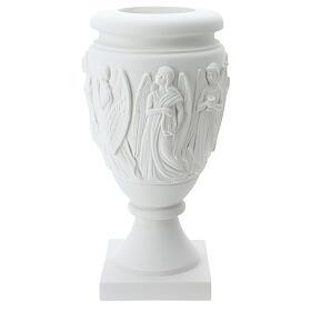 Vaso portafiori marmo sintetico Angeli e Cristo s3