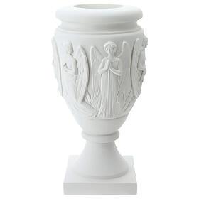 Vaso portafiori marmo sintetico Angeli e Cristo s5