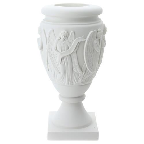 Vaso portafiori marmo sintetico Angeli e Cristo 4